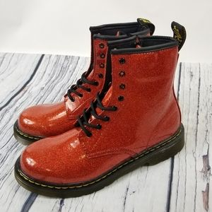 Dr Martens 1460 Glitter Red Zip Lace Boo